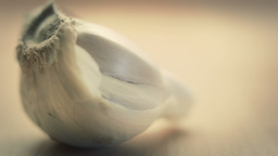 Close Up Garlic Clove stock footage