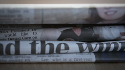 Stack Of Newspapers Stock Video Footage