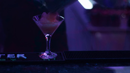 Barmen make a dessert Stock Video Footage