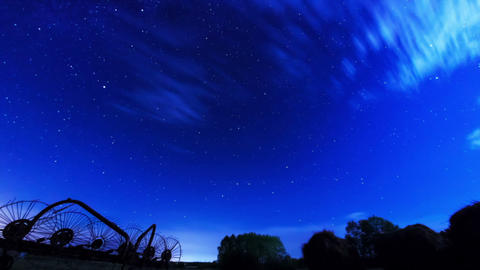 The movement of stars and clouds. Time Lapse Stock Video Footage
