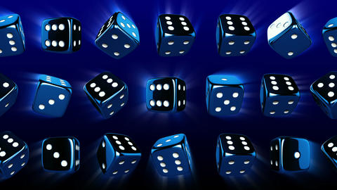 Flowing Casino Dices Animation