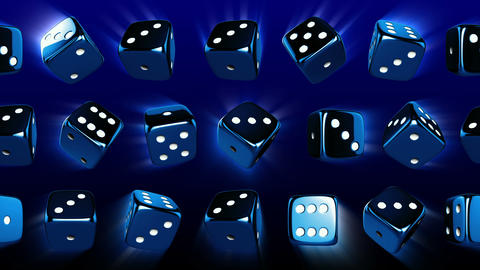 Flowing Casino Dices Stock Video Footage