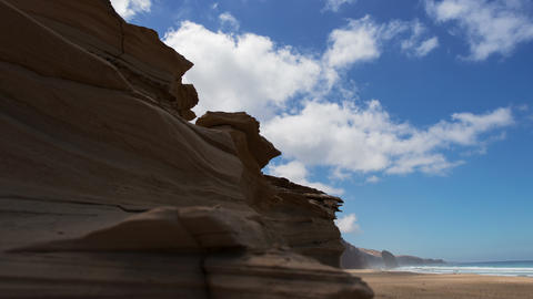 4k UHD sandstone and Roque del Morro time lapse Stock Video Footage