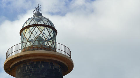 4k UHD lighthouse and clouds time lapse close 1119 Stock Video Footage