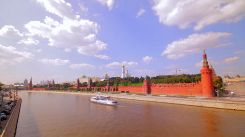 Moscow Kremlin Embankment Time Lapse stock footage
