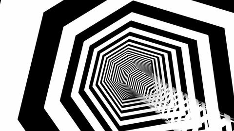 hexa stripes tunnel Animation