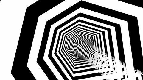 hexa stripes tunnel Animation