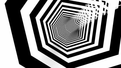 hexa stripes tunnel Stock Video Footage