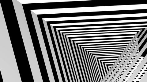 black white triangle tunnel Animation