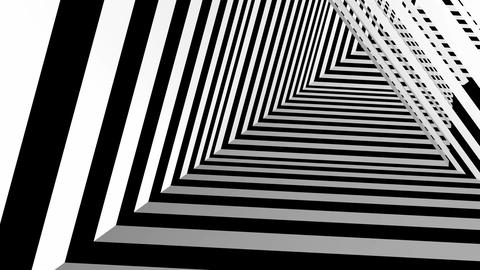 black white triangle tunnel Stock Video Footage
