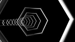 hexagonal frame tunnel Stock Video Footage