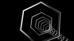 Hexagonal Frame Tunnel stock footage