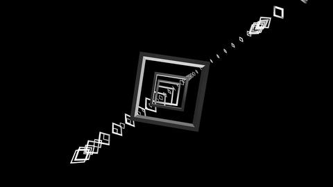 flying outline square Stock Video Footage