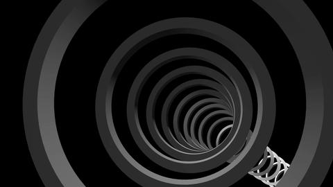 rings cyclic tunnel Stock Video Footage