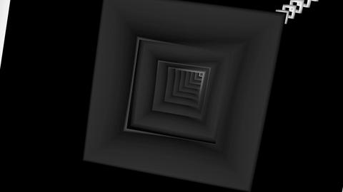 square array tunnel Stock Video Footage