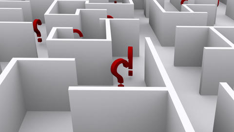 Question Marks In The Maze stock footage