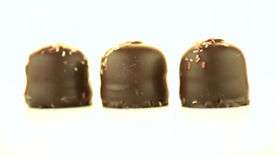 Chocolate coated marshmallows Stock Video Footage