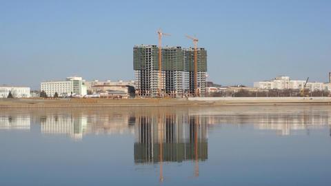 Blagoveshchensk Amur Construction Stock Video Footage