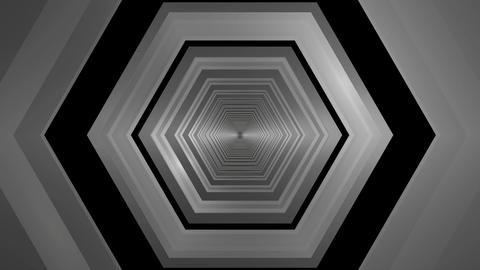 hexagonal tunnel infiity Stock Video Footage