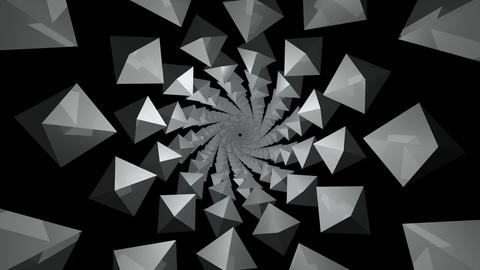 twisted kaleidoscope polygon Stock Video Footage