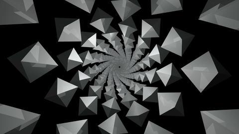 twisted kaleidoscope polygon Stock Video Footage