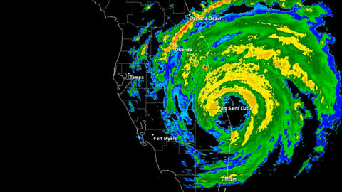 Hurricane Frances (2004) Landfall Time Lapse Stock Video Footage