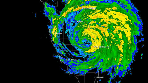 Hurricane Frances (2004) Landfall Time Lapse Stock Video Footage