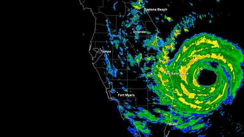 Hurricane Jeanne (2004) Landfall Time Lapse Stock Video Footage