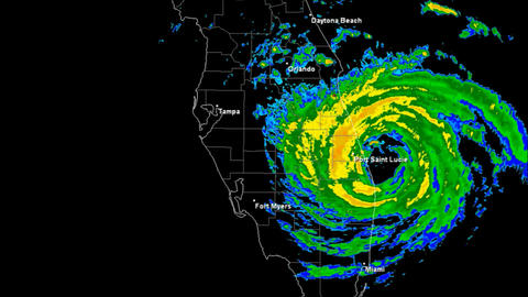 Hurricane Jeanne (2004) Landfall Time Lapse Stock Video Footage