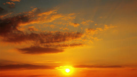 sunset and clouds Stock Video Footage