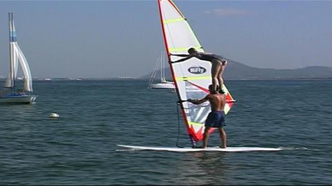 Windsurfer Stock Video Footage
