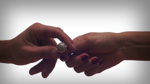 Diamond Ring Couple Breakup stock footage