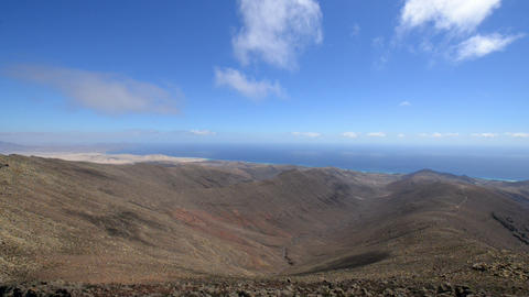 coast to coast pan fuerteventura 11205 Stock Video Footage