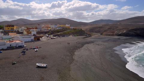 4k UHD people visit black ajuy beach time lapse 11 Stock Video Footage