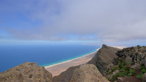4k UHD below fuerteventura clouds time lapse 11209 Stock Video Footage