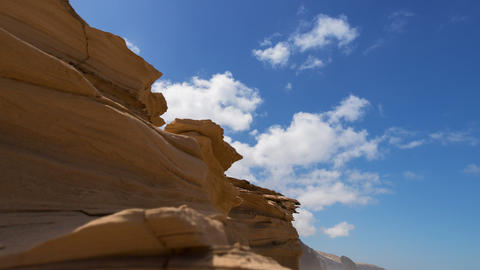pan sandstone to Roque del Morro time lapse 11211 Stock Video Footage