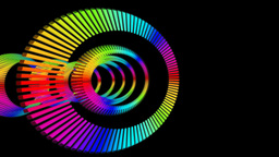 rainbow ring sliced Animation