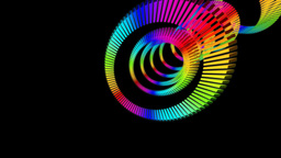 rainbow ring sliced Stock Video Footage