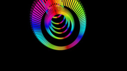 rainbow ring sliced Stock Video Footage