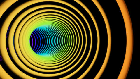 seven color rings tunnel Stock Video Footage