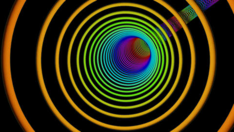 full colours ring tunnel Stock Video Footage