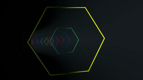 hexagonal array reflection Animation