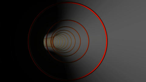 circle rings tunnel Animation