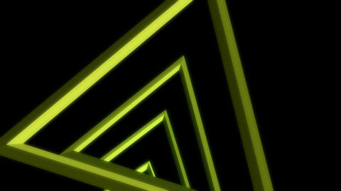 triangle array glowing Stock Video Footage