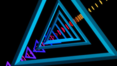 triangle array glowing Animation