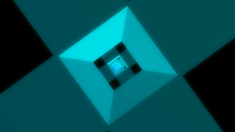flying cube cross Animation
