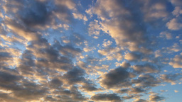 Cirrus clouds at sunset. Time Lapse Stock Video Footage
