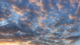 Cirrus clouds at sunset. Time Lapse Footage