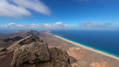time lapse panorama pan view fuerteventura 11220 Footage