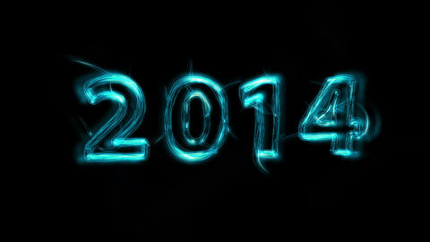 New Year 2014 Title Stock Video Footage